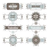 Calligraphic Design Elements Valentines Day Royalty Free Stock Image
