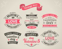 Calligraphic Design Elements Valentines Day Royalty Free Stock Photography