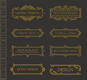 Calligraphic design elements. Vector baroque set Stock Image