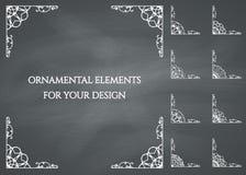 Calligraphic design elements vector illustration