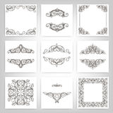 Calligraphic design elements Royalty Free Stock Photography