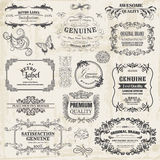 Calligraphic Design Elements. Vector Set: Calligraphic Design Elements and Page Decoration, Vintage Frame collection with Flowers Royalty Free Stock Image