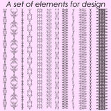 Calligraphic design elements 1 - vector set. Vector illustration Stock Image