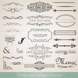 Calligraphic design vector Stock Images