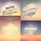 Calligraphic designbakgrunder för sommar Royaltyfri Bild