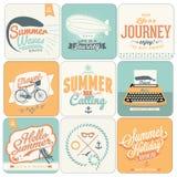 Calligraphic designbakgrunder för sommar Arkivfoto