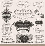 Calligraphic designbeståndsdelar Royaltyfria Bilder