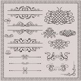 calligraphic designelement Royaltyfri Fotografi