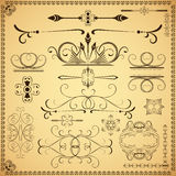 calligraphic designelement Royaltyfri Foto