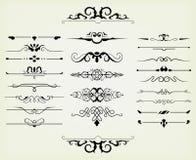 Calligraphic designelement royaltyfri illustrationer