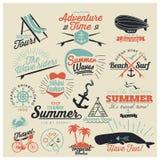 Calligraphic designer för sommar Royaltyfri Fotografi