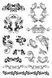 calligraphic designset Royaltyfri Bild
