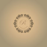 Calligraphic elegant floral monogram design Stock Images
