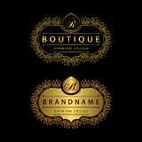 Calligraphic Elegant line art logo design Letter emblem B, R identity for Restaurant, Royalty Free Stock Images