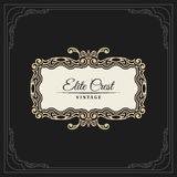 Calligraphic Elegant Ornament Frame Lines. Restaurant menu. Luxury Horizontal vintage ornate greeting card Stock Photos