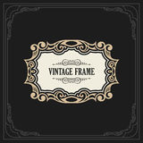 Calligraphic Elegant Ornament Frame Lines. Restaurant menu. Luxury Horizontal vintage ornate greeting card Royalty Free Stock Photos