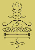 calligraphic element vektor illustrationer