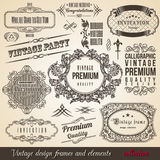 Calligraphic Element Border Corner Frame Collectio Royalty Free Stock Images