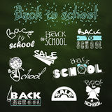 Calligraphic element collection set. Back to School. Calligraphic designs. Sale. Vector Set Stock Image