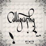 Calligraphic element - svart designtappning royaltyfri illustrationer