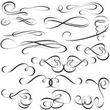 Calligraphic elements Stock Photo