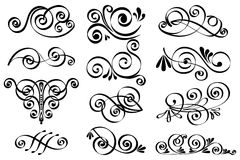 Calligraphic elements Stock Image