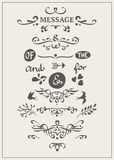 Calligraphic elements Stock Images