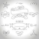 Calligraphic elements Stock Photography