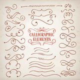 Calligraphic elements set Stock Image