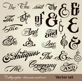 Calligraphic elements and text. Vector set Stock Photography