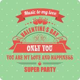 Calligraphic Elements Valentines Day Royalty Free Stock Photos