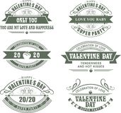 Calligraphic Elements Valentines Day Stock Photography