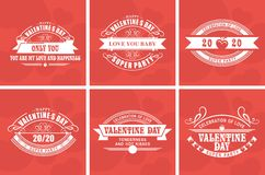 Calligraphic Elements Valentines Day Royalty Free Stock Images