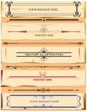 Calligraphic elements vintage. Set. Hand retro vector illustration Royalty Free Stock Photography