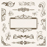 Calligraphic elements vintage vector Royalty Free Stock Photos
