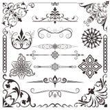 calligraphic elementtappning Royaltyfri Foto