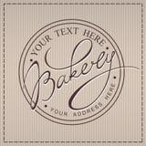 Calligraphic etikett för bageri vektor illustrationer