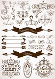 Calligraphic and floral element Royalty Free Stock Photos
