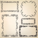 Calligraphic floral retro victorian frame Royalty Free Stock Photos
