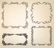 Calligraphic floral retro victorian frame Stock Photography