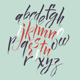 Calligraphic font Royalty Free Stock Images