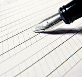 Calligraphic fountain pen royalty free stock image