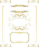 Calligraphic frame, border, label, design elements Royalty Free Stock Photo