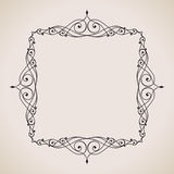 Calligraphic frame and page decoration. Vector Stock Photos