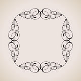 Calligraphic frame and page decoration. Vector Stock Photo
