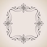 Calligraphic frame and page decoration. Vector royalty free illustration