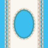 Calligraphic frame. Vector lacy napkins framework of calligraphic elements Royalty Free Stock Photography