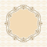 Calligraphic frame. Vector lacy napkins framework of calligraphic elements Stock Photo