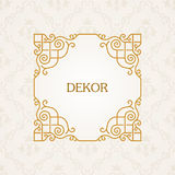 Calligraphic frame. Vector vintage elegant text Stock Photography