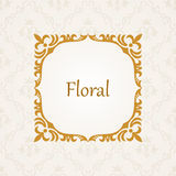 Calligraphic frame. Vector vintage elegant text Royalty Free Stock Image